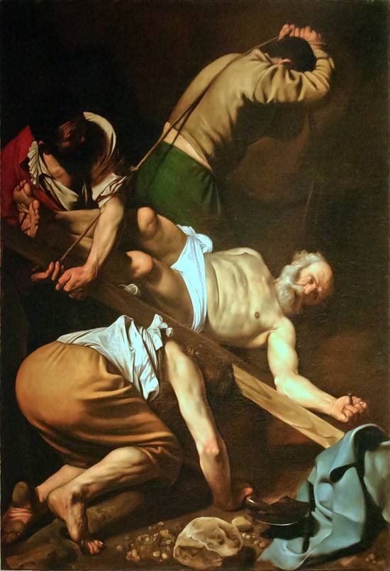 Crucifixion Of St Peter by Caravaggio
